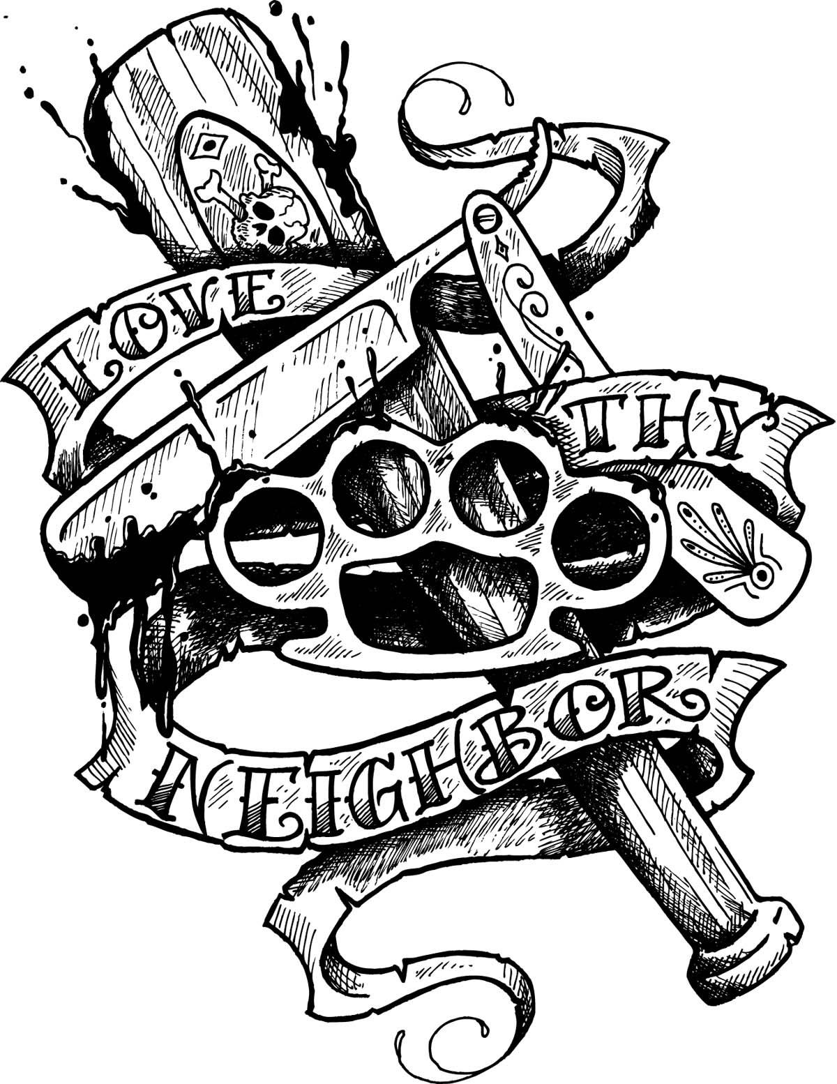 love-thy-neighbor-tattoo-flash-by-sd-designs-1872512913